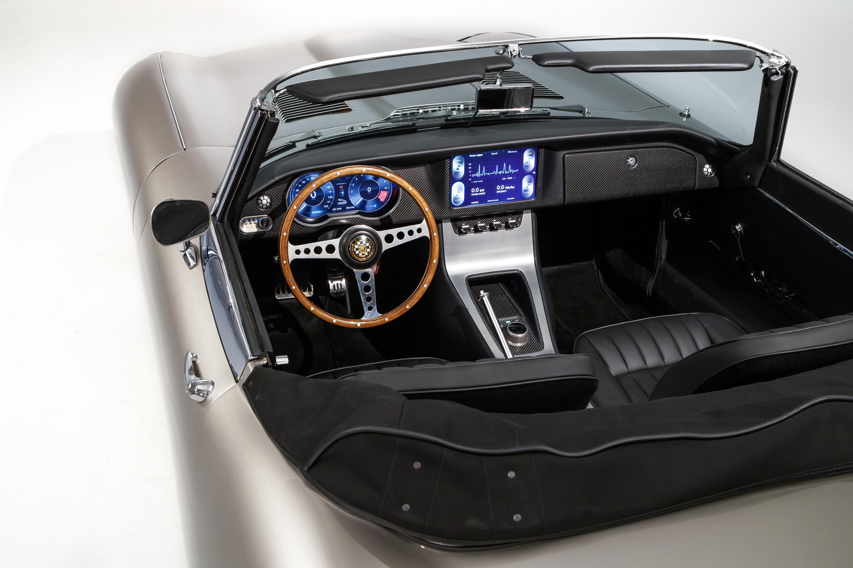 Jaguar E-type electric inside