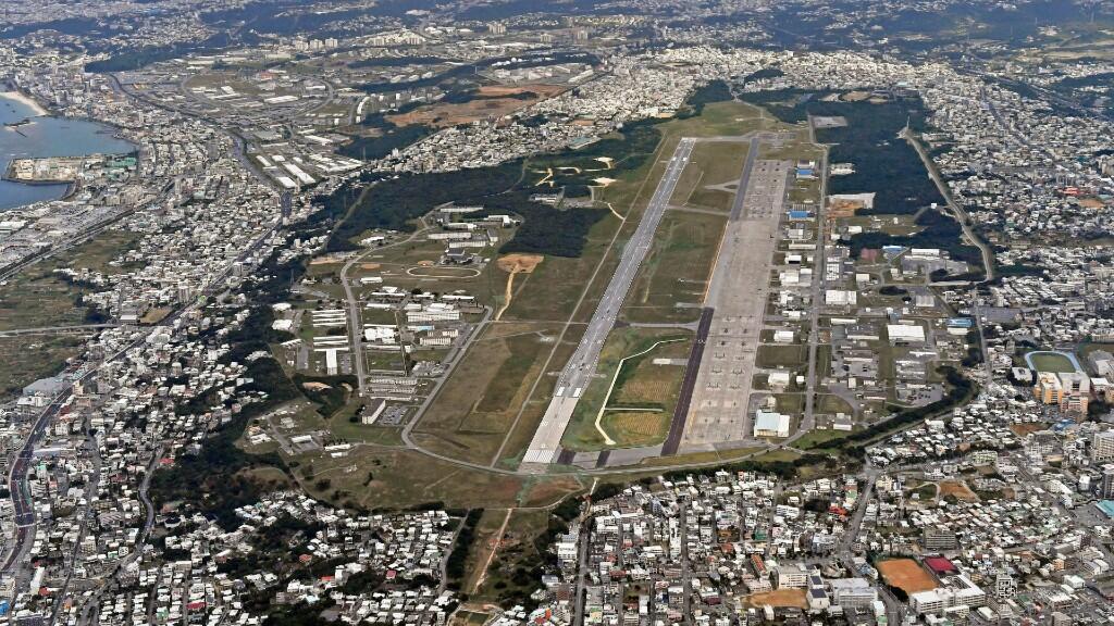 En esta imagen de archivo aparece la base militar estadounidense de Okinawa, en Japón. El 27 de enero de 2018.