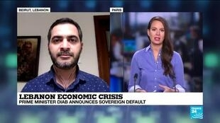 2020-03-07 19:01 Ayman Mhanna on France 24: The Lebanese PM has not put forward concrete reforms