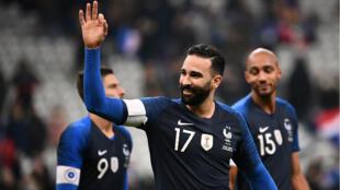 Le défenseur français à l'issue du match France -Uruguay en novembre 2018.