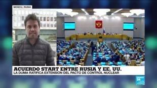 2021-01-27 12:38 El Parlamento ruso ratifica extensión del pacto de control nuclear