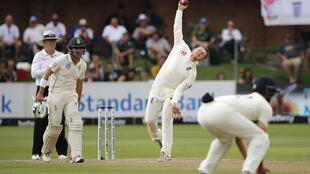 Healthy body, healthy mind - England off-spinner Dom Bess in action against South Africa