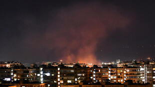 A war monitor reported a missile attack hit weapons depots and military positions belonging to Syrian regime forces and Iran-backed militia fighters south of the capital Damascus