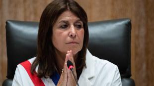 La nouvelle maire de gauche de Marseille, Michèle Rubirola, le 4 juillet 2020 lors d'un conseil municipal