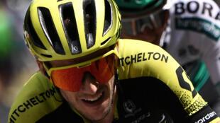 Simon Yates à l'arrivée de la douzième étape du Tour de France, le 18 juillet 2019.