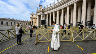 St. Peter's Basilica in the Vatican City was one of the major religous sites to reopen Monday
