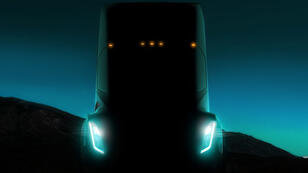 Illustration furtive du premier camion de Tesla