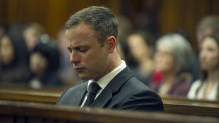 Oscar Pistorius, le 17 octobre 2014,  au tribunal de Pretoria