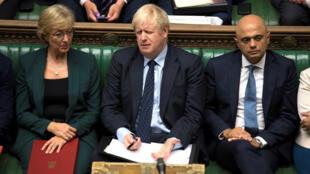 El primer ministro británico, Boris Johnson en la Cámara de los Comunes. Londres, Reino Unido, el 3 de septiembre de 2019.