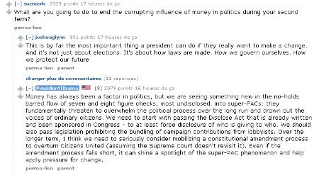 """Un extrait du """"chat"""" de Barack Obama sur Reddit"""