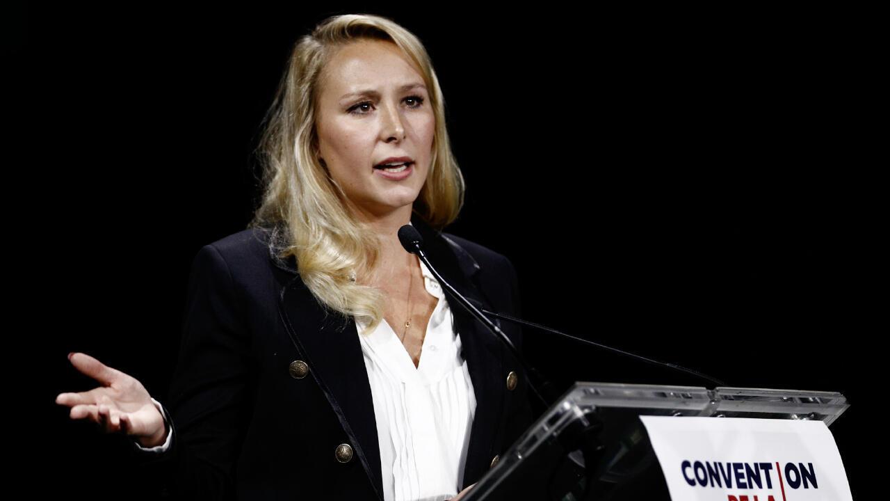 Marion Maréchal lors de la Convention de la droite, le 28 septembre 2019, à Paris.