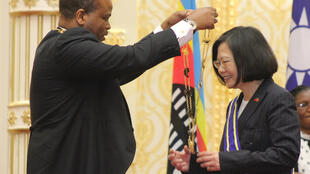 King Mswati III bestowed the Order of the Elephant, Eswatini's highest honour for a foreign leader, on Taiwan President Tsai Ing-wen when she visited the kingdom in April 2018
