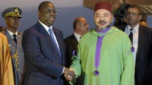 Le roi Mohammed VI a rencontré le président Macky Sall à Dakar, le 6 novembre 2016.