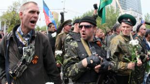 Des séparatistes pro-russes à Donetsk