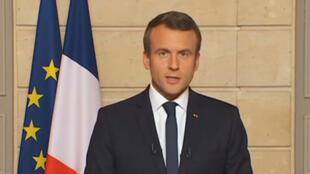 Emmanuel Macron s'est exprimé à la télévision jeudi 1er juin après l'annonce de Donald Trump.