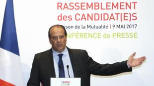 Le premier secrétaire du Parti socialiste, Jean-Christophe Cambadélis, mardi 9 mai 2017, à la Mutualité à Paris.