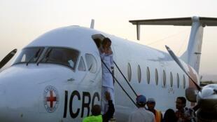 الجندي السعودي الذي أفرج عنه الحوثيون على متن طائرة تابعة للصليب الأحمر - 29 يناير/ كانون الثاني