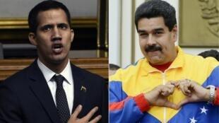 Juan Guaido et Nicolas Maduro.