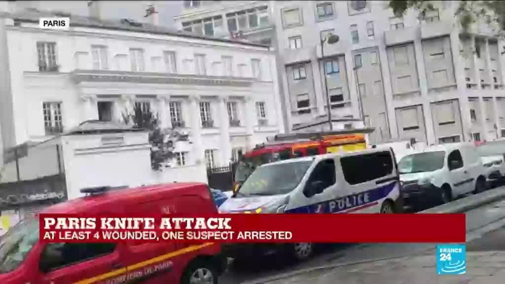 2020-09-25 13:07 Four stabbed in Paris attack, schoolchildren being kept inside in area