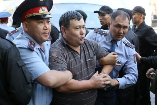 Dozens detained as Kazakhs protest against former president, China