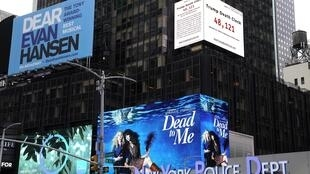 "A documentary film-maker's ""Trump Death Clock"" in Times Square"