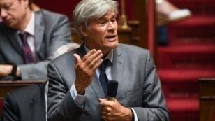 Le socialiste Stéphane Le Foll lors d'une séance de questions au gouvernement à l'Assemblée nationale, le 3 juillet 2018 à Paris