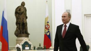 Le président russe, Vladimir Poutine, au Kremlin à Moscou, le 5 mars 2015.