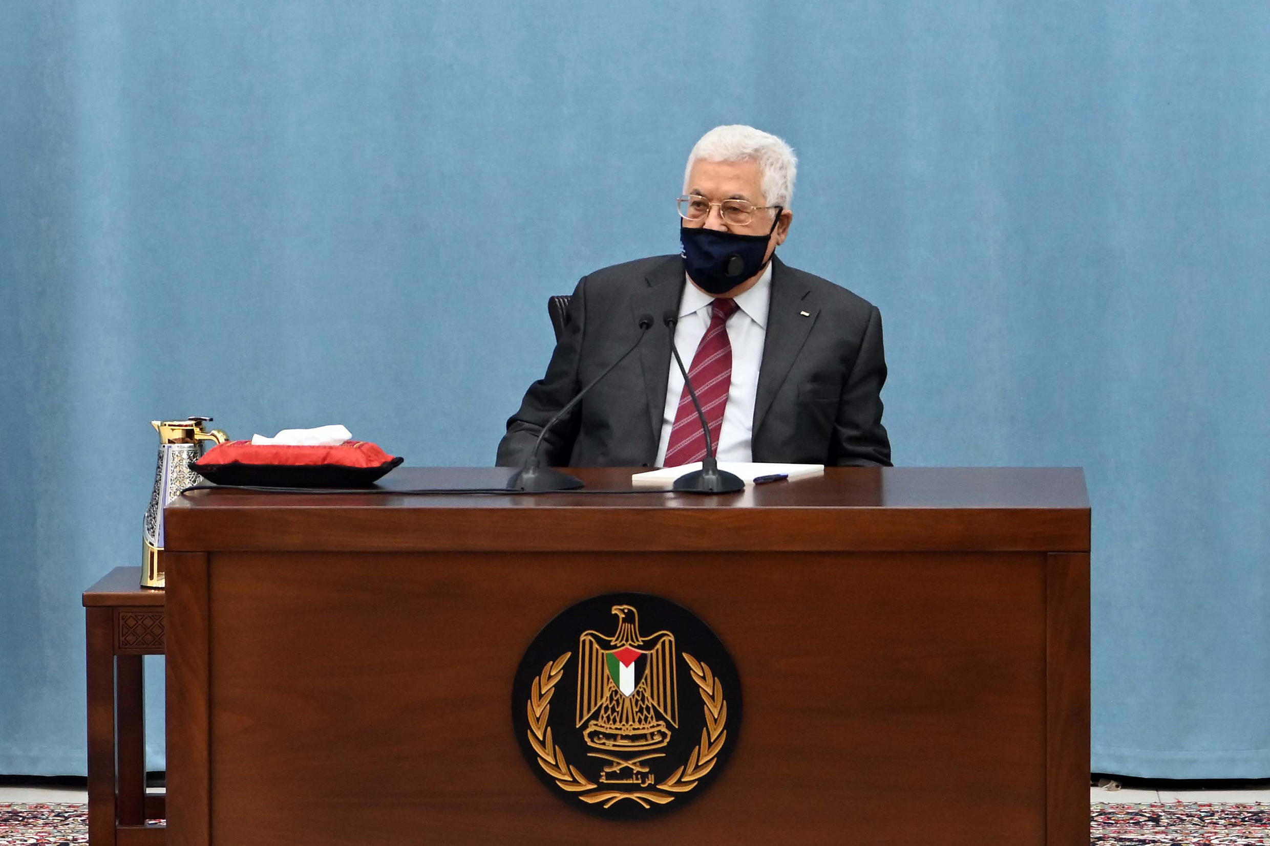 A handout picture provided by the Palestinian Authority's press office (PPO) on June 19, 2020, shows Palestinian president Mahmoud Abbas.