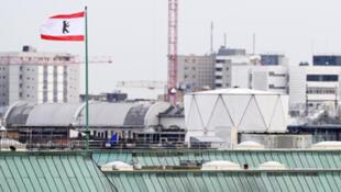 Le toit de l'ambassade britannique à Berlin