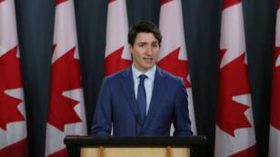 Justin Trudeau s'est exprimé jeudi 7 mars sur les accusations qui pèsent contre lui jeudi 7 mars lors d'une conférence de presse à Ottawa.