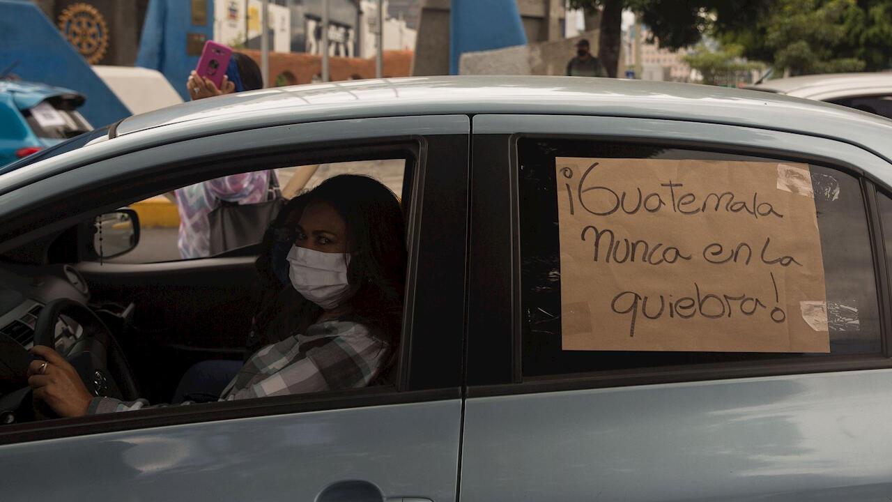 Las protestas del 28 de mayo de 2020 en Ciudad de Guatemala fueron en contra de las medidas del Gobierno por el Covid-19.