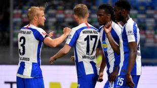 حقق هرتا برلين فوزا سهلا على جاره أونيون برلين في المرحلة 27 من الدوري الالماني لكرة القدم في 22 أيار/مايو 2020