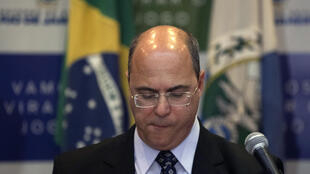 Rio de Janeiro's Governor Wilson Witzel, pictured in 2019, has recommended that people stay off the beach