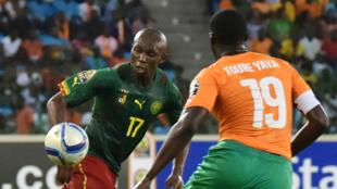 Stephane Mbia lors d'une rencontre de la Coupe d'Afrique des Nations contre la Côte d'Ivoire, en janvier 2015 en Guinée Equatoriale