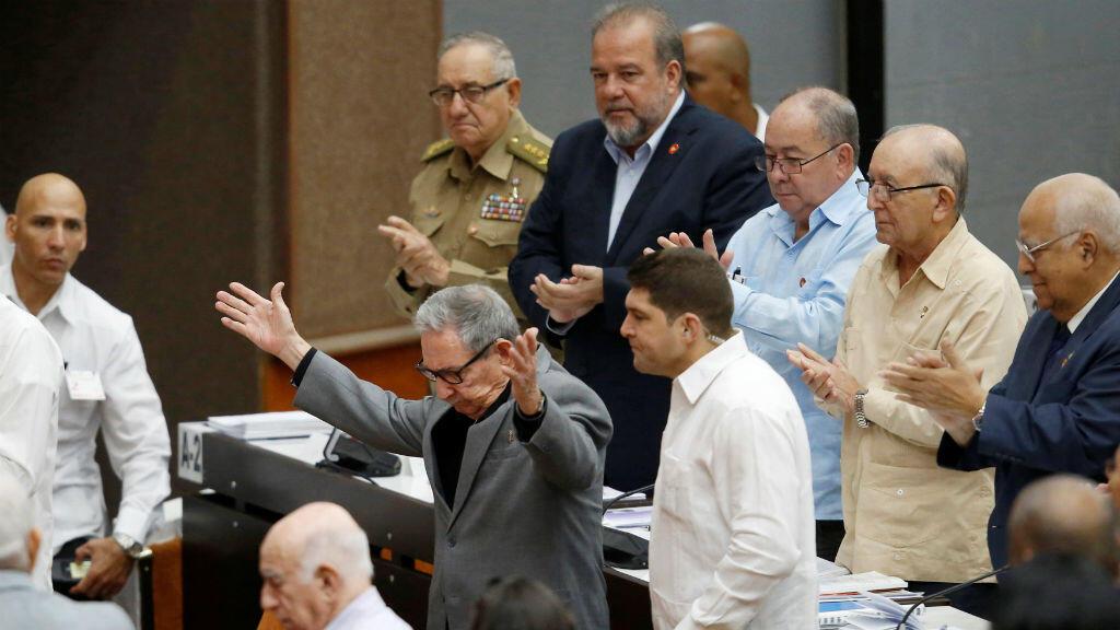 El expresidente de Cuba, Raúl Castro, estuvo presente durante la sesión de la Asamblea Nacional en la que fue aprobado el borrador de la nueva constitución, en La Habana, Cuba, el 21 de diciembre de 2018.
