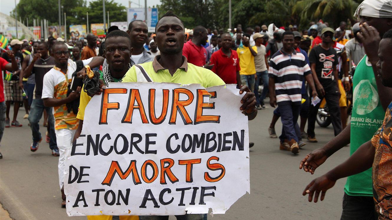 Manifestation dans les rues de Lomé, mercredi 6 septembre.