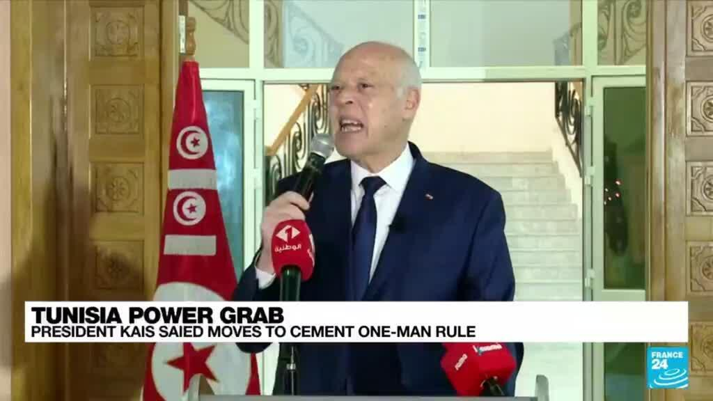 2021-09-23 08:14 Tunisia's Saied issues decree strengthening presidential powers