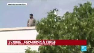 2020-03-06 12:00 Tunisie : Explosion dans le quartier de l'ambassade des États-Unis à Tunis