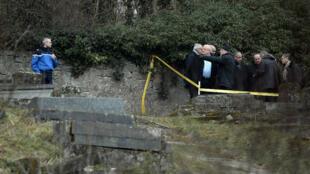 Le cimetière juif de Sarre-Union, en Alsace, où 200 tombes ont été profanées, le 15 février.