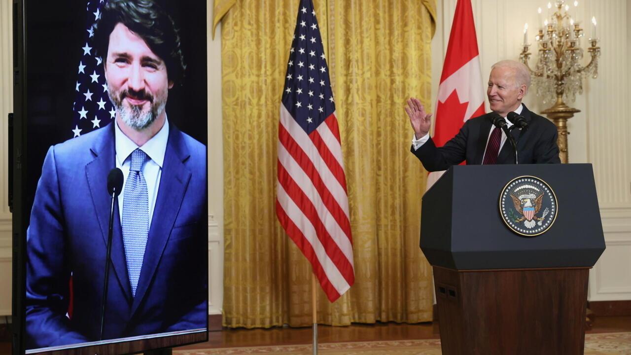 Canada's Trudeau tells Biden US leadership has been 'sorely missed'
