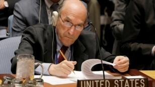 إليوت أبرامز ممثل واشنطن في اجتماع لمجلس الأمن الدولي، نيويورك، الولايات المتحدة، 28 فبراير/شباط 2019