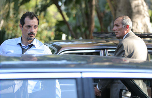 Adel Karam as Toni Hanna (L) and Kamel El Basha as Yasser Salameh in 'The Insult'.
