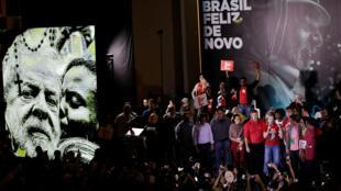 Los miembros del Partido de los Trabajadores durante la proclamación de la candidatura a la presidencia de Lula da Silva. Sao Paulo, 4 de agosto de 2018.