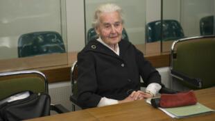 Ursula Haverbeck, de 89 años ha expresado a través de artículos en prensa su argumento respecto al Holocausto. Octubre 16 de 2017.