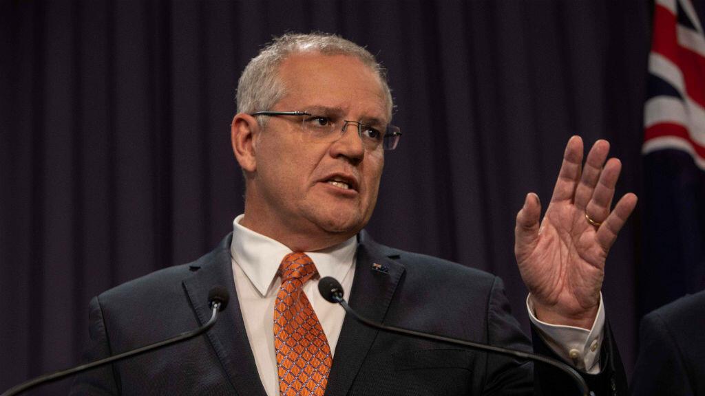 El primer ministro de Australia, Scott Morrison, habla a los medios de comunicación sobre los ataques en Nueva Zelanda, en Canberra, el 20 de marzo de 2019.