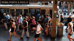 Le métro de Rome, juillet 2015.