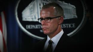 L'ex-numéro 2 du FBI Andrew McCabe, le 13 juillet 2017, à Washington.