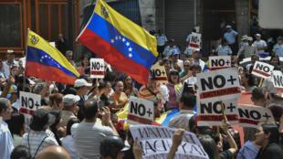 Manifestation de l'opposition à Caracas, mercredi 30 janvier 2019.