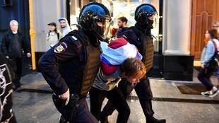Detained protestors had collected signatures against recently adopted but controversial Russian constitutional reforms