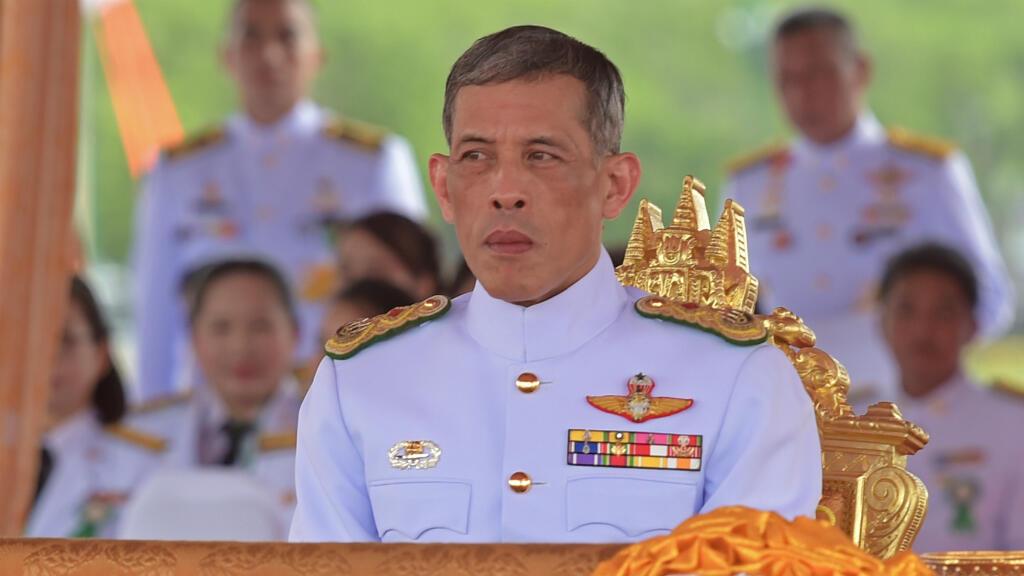 Le prince héritier Maha Vajiralongkorn, le 13 mai 2015, lors de la cérémonie du Labour Royal à Bangkok.